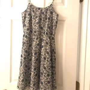 Loft XS grey and blue dress